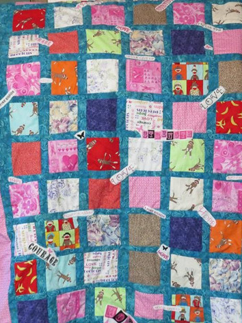 Breast Cancer Awareness and Sock Monkey Quilt
