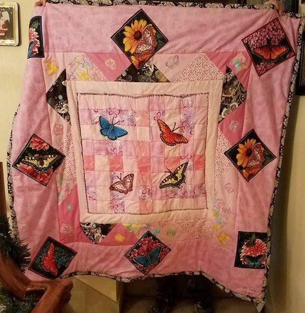 Butterflies in Pink