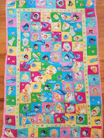 Mermaid Match Baby Quilt