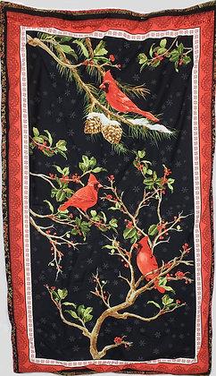 Perched Winter Cardinals