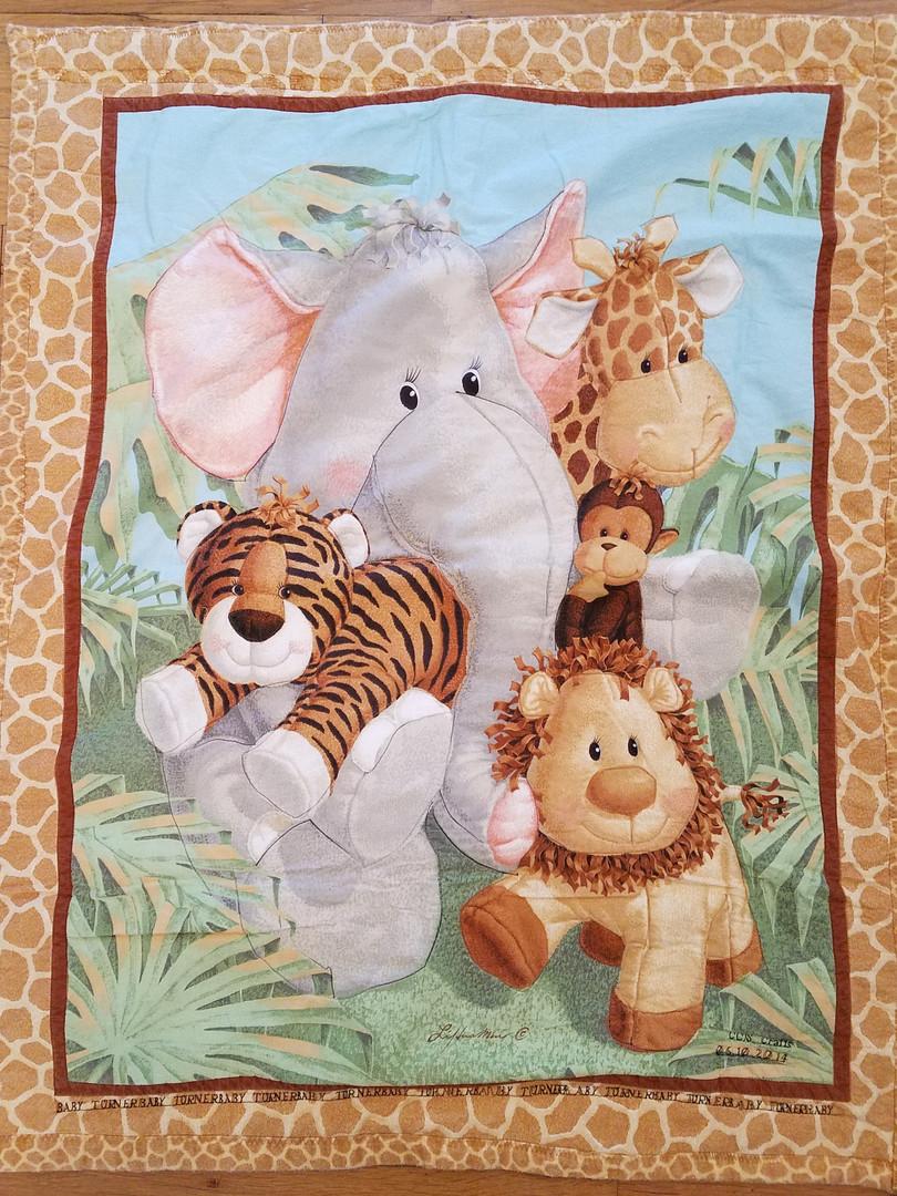 Jungle Animals Baby Quilt