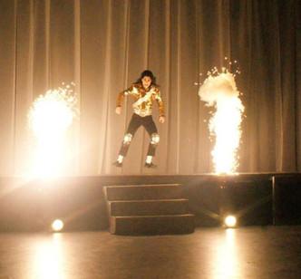 Dev as Micheal Jackson dancing