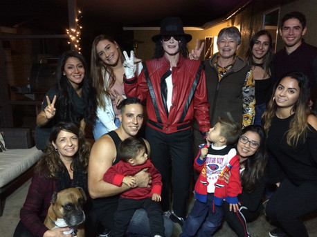 With a group and kids