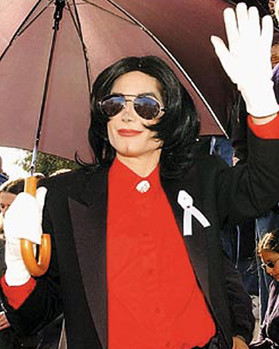 MJ waving