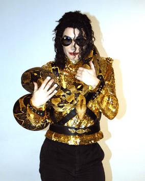 Michael Jackson Impersonator & Boa
