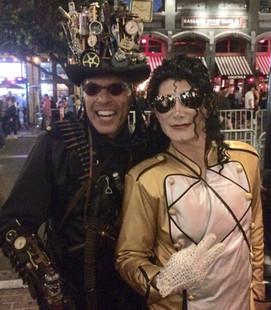 Dev as MJ at comic con San Diego