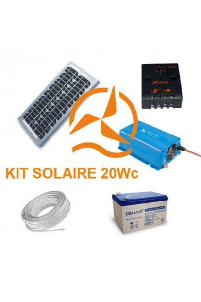 Kit Solaire 20 Wc 220 Volts - 250VA - 200 Watts
