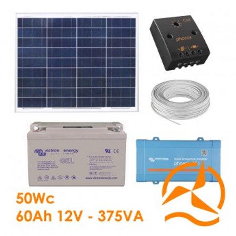 Kit Solaire 55 Wc 220 Volts - 375VA - 300 Watts
