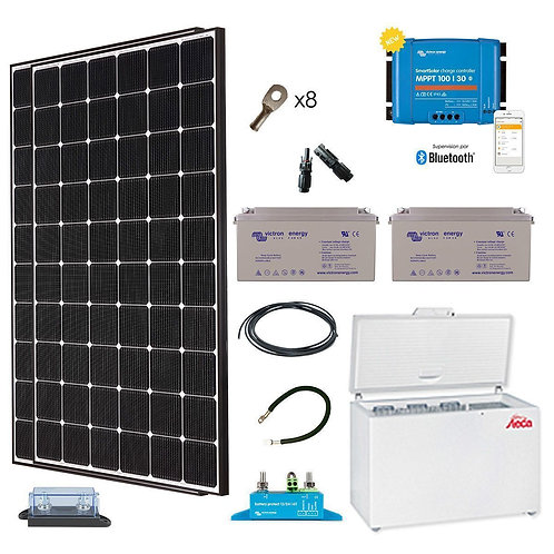 Kit solaire 710w-frigo-240l-steca