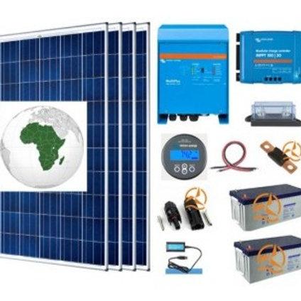 Kit Solaire Afrique Autoconsommation 3000 À 5000 Wh/J Avec Batteries Gel