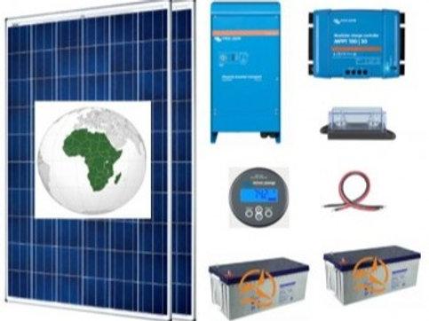 Kit Solaire Afrique Autoconsommation 1500 À 3500 Wh/J Avec Batteries Gel