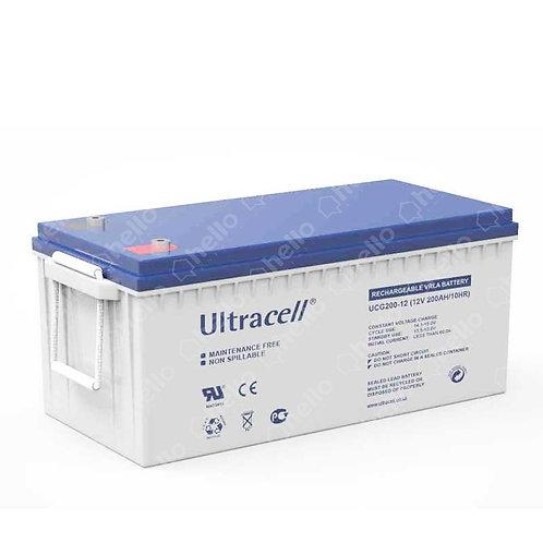 Batterie 200Ah 12V GEL - UCG200-12 - Ultracell