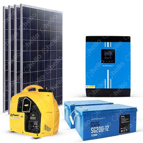 Kit solaire 2200W 230V Autonome Groupe électrogène 4.8kW