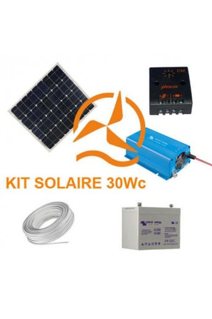 Kit Solaire 30 Wc 220 Volts - 250VA - 200 Watts