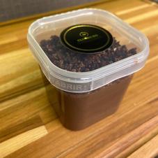 Brigadeiro de Chocolate Belga com Granulado de Bacon Caramelizado