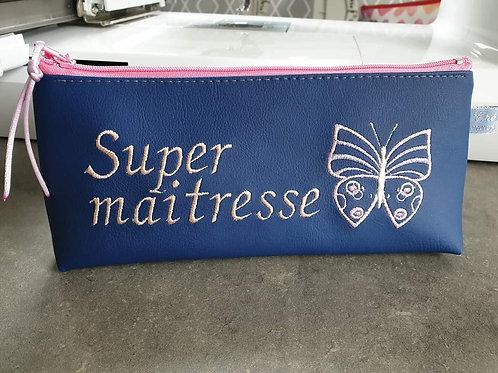 Trousse brodées 'Super Maitresse'