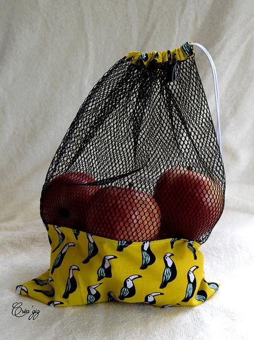 Sac à vrac toucans noirs/jaunes