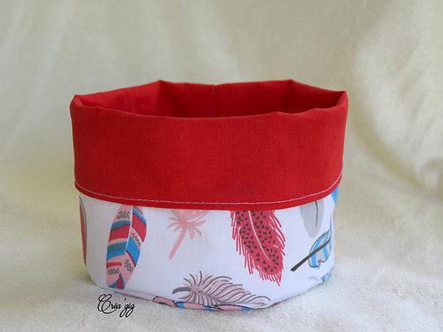 Panier multi-usage plumes bleues/rouges
