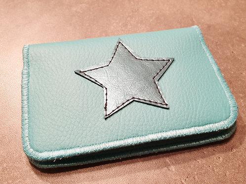 Porte-cartes turquoise