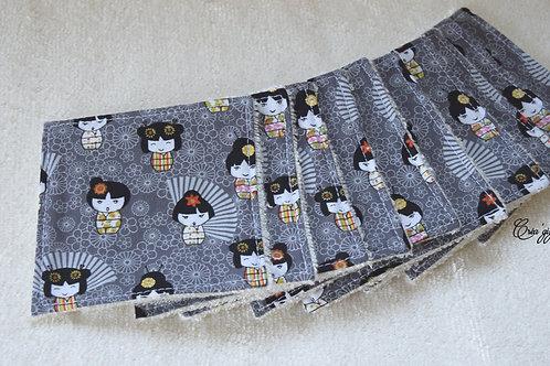Lingettes japonaises grises