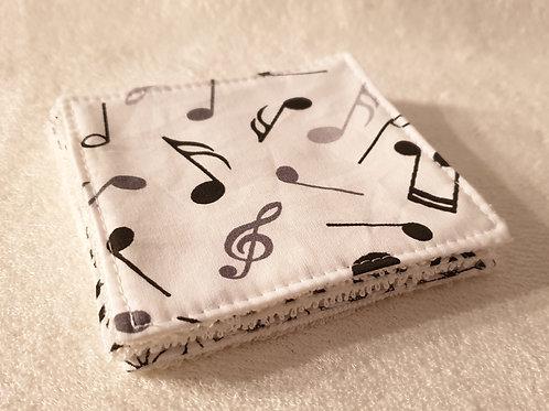 """Lingettes """"notes de musique"""""""