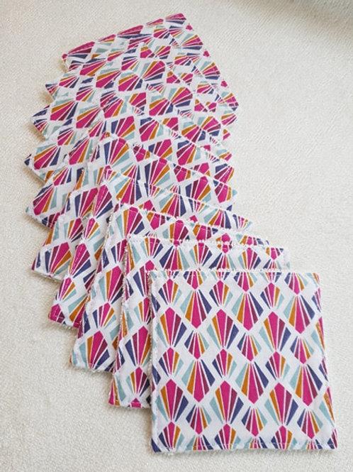 Lingettes motifs multicolores
