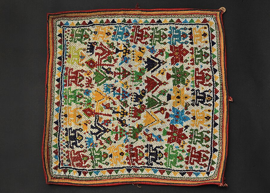 Beaded Square piece Arunkant Shah
