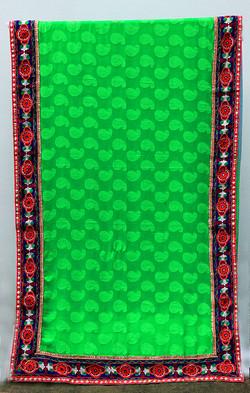 Embroidered Cotton Saree