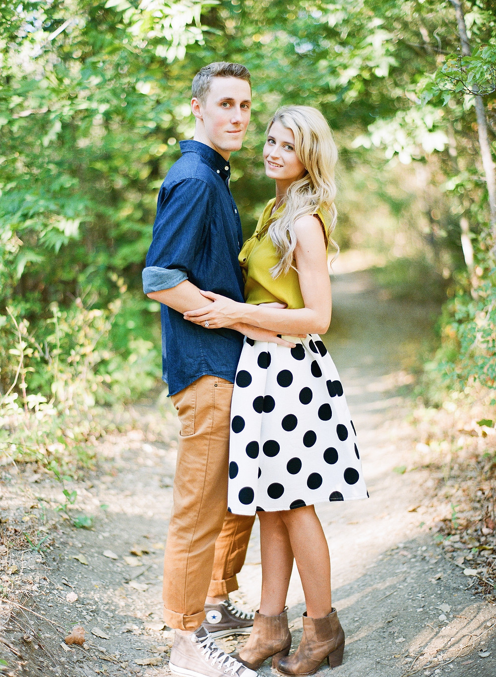 Young couple 1 year wedding anniversary photos in Plano Texas