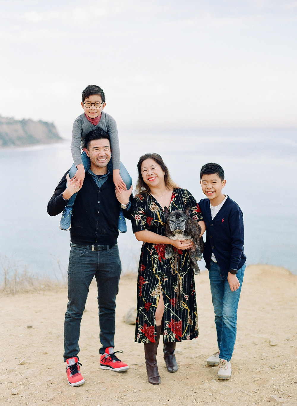 Family photos in Bluff Cove Palos Verdes California