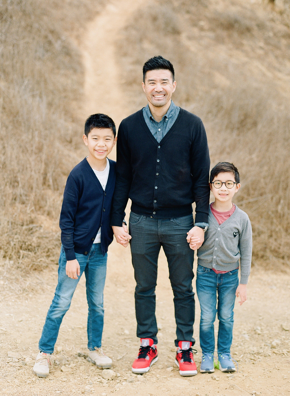 2 boys and their dad family photos in Palos Verdes California