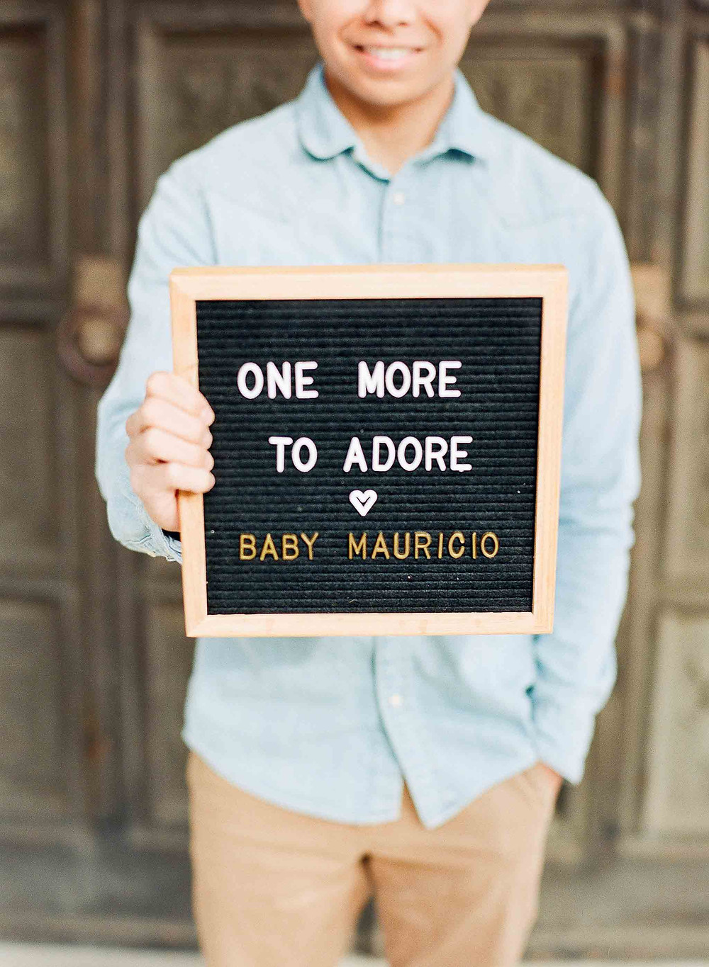 Pregnancy Announcement Father To Be Holding Sign