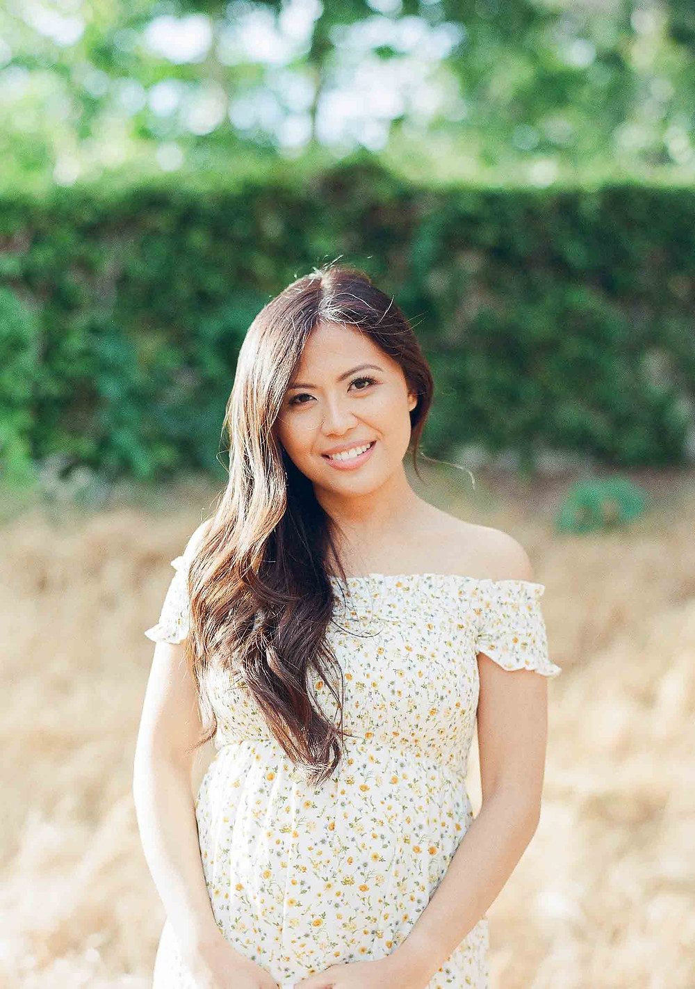 Pregnancy Announcement Asian Mother to Be Palos Verdes