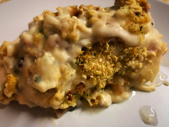 Creamy Stuffing Crusted Chicken