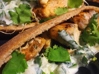 Whole Wheat Chicken Pita