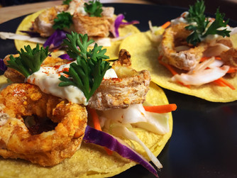 Fried Calamari Tacos