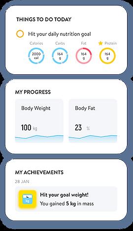 Personal Training App Screens