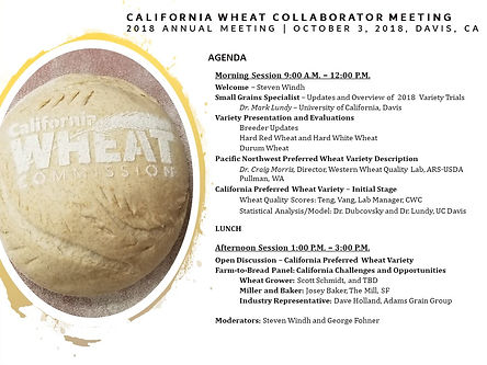AGENDA 2018 CALIFORNIA WHEAT COLLABORATO