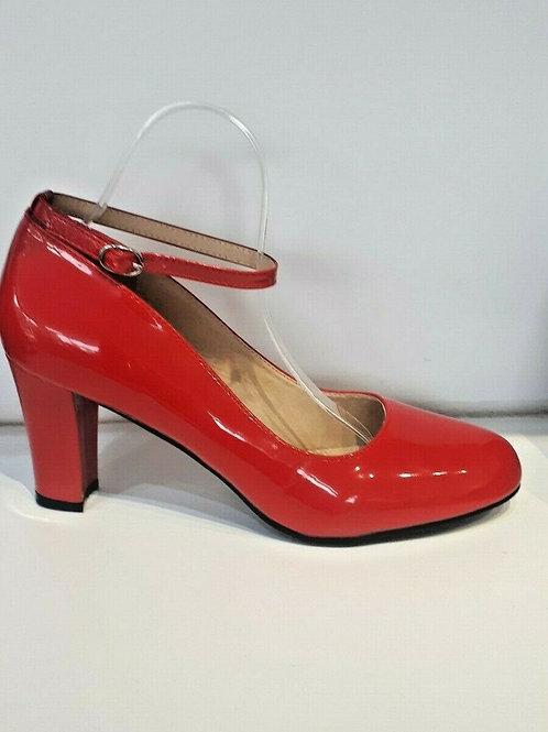 Red Blocked Heel BS1829