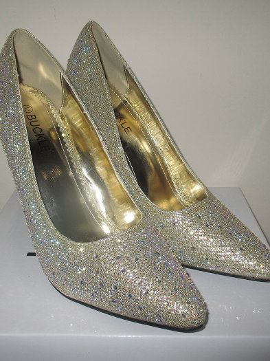 Gold Court Shoe               BS-12924