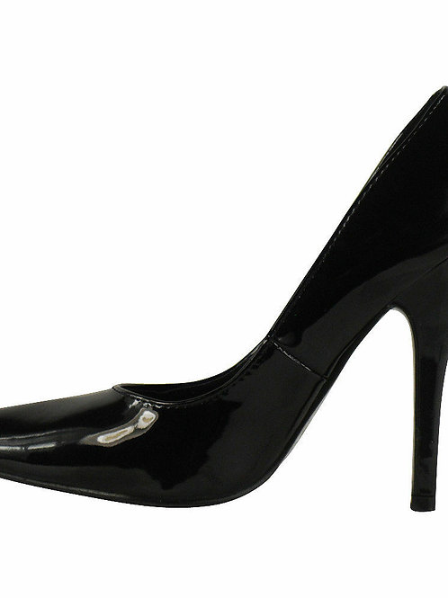 Black Patent Court Shoe BS-12924