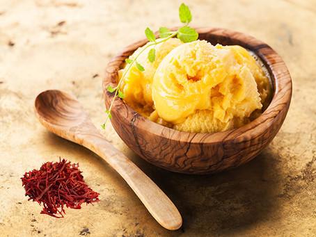 Traditional Persian Saffron Ice Cream