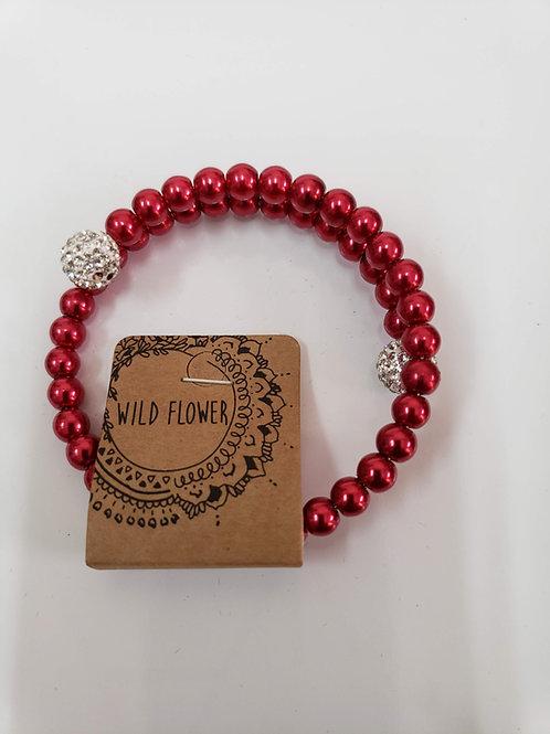 Red Wrap Bracelet