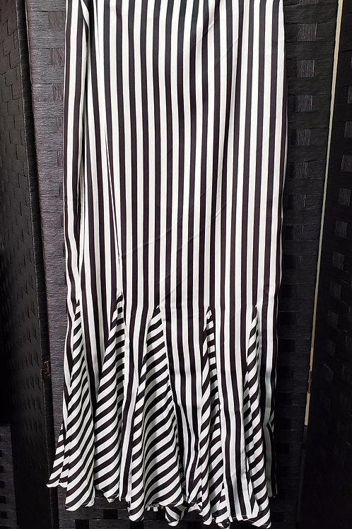 Striped Ruffled Bottom Skirt