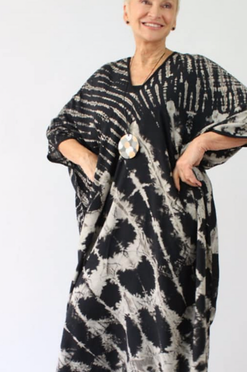 Oversize Dress Black/White