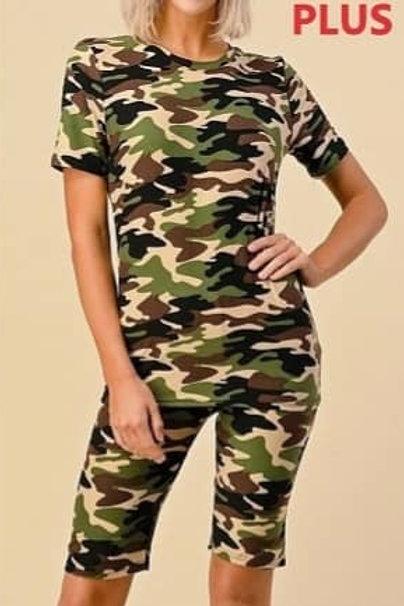 Camouflage Short Set