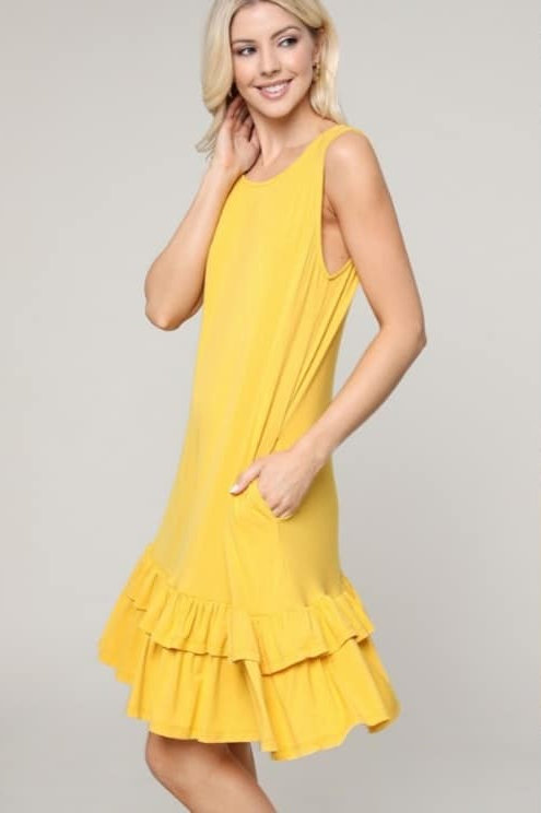 Women's Sleeveless Ruffle Dress