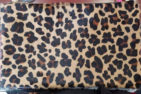 Animal Print Clutch Handbag