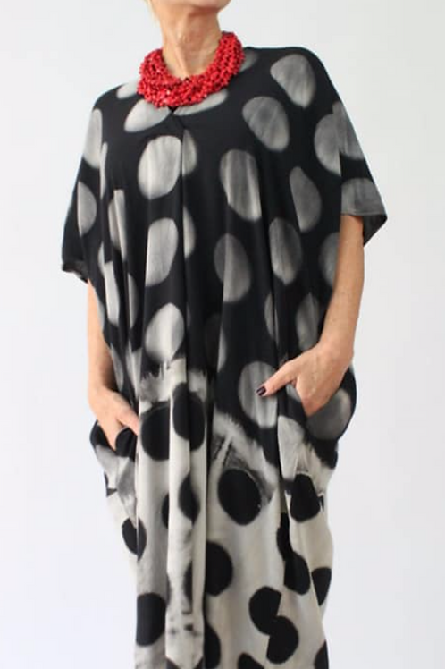 Oversize Polka Dot Dress