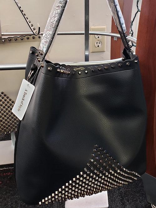 Black Soft Leather Handbag